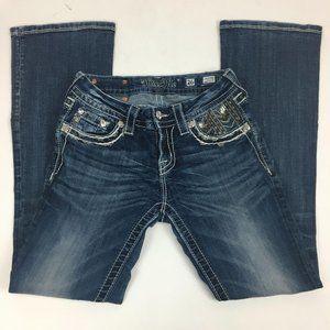 Miss Me Women's Jeans 26 (28) Boot Cut Mid Rise